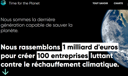 Découvrez Time for the Planet, une start-up incubée au programme Pro en 2019